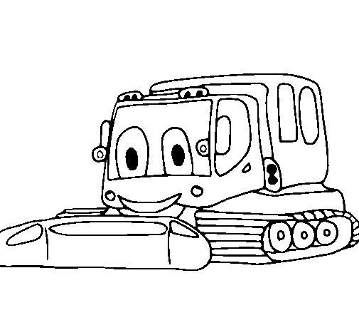 Dibujo de Excavadora 1 para Colorear