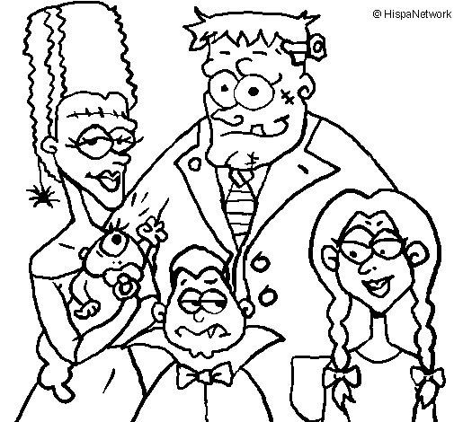 Dibujo de Familia de monstruos para Colorear  Dibujosnet