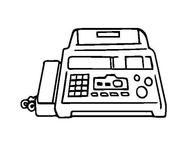 Juegos De Colorear Dibujos Bonitos: Dibujo De Fax Para Colorear