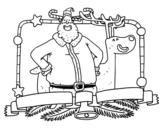 Dibujo de Feliz Navidad para todos para colorear