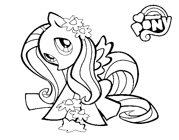 Dibujo De Fluttershy Para Colorear: My Little Pony Para Colorear Fluttershy