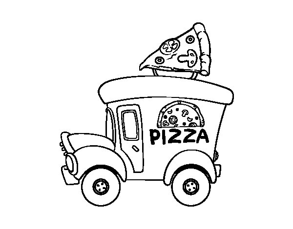 Worksheet. Dibujo de Food truck de pizza para Colorear  Dibujosnet