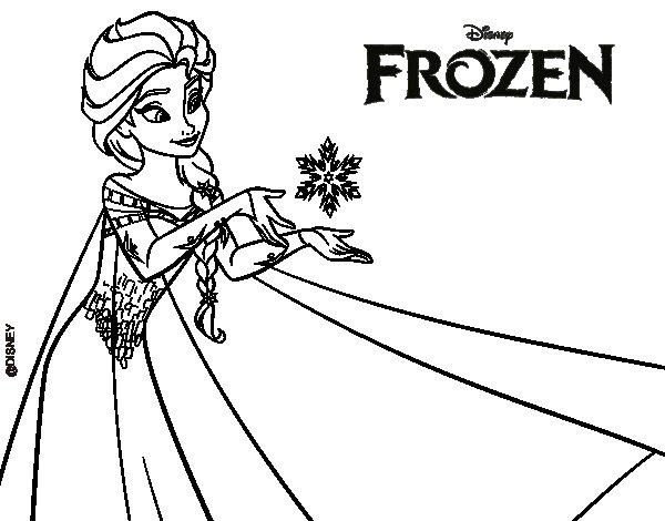 Imprimir Dibujos Para Colorear De Frozen: Dibujo De Frozen Elsa Para Colorear