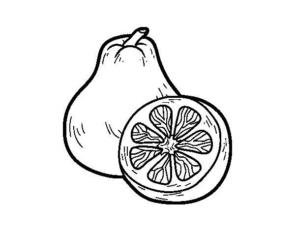 Dibujo de Fruta extica ugli para Colorear  Dibujosnet