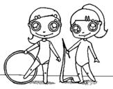 Dibujo de Gimnastas