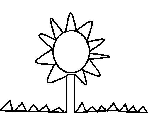 Dibujo de Girasol 1 para Colorear