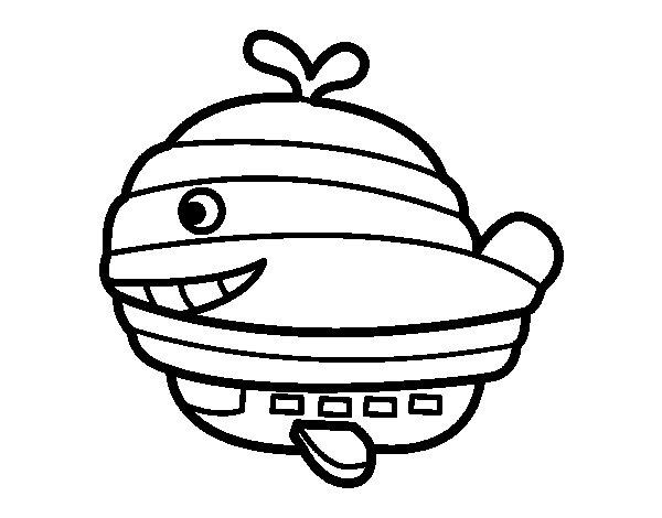 Dibujo de Globo-ballena para Colorear