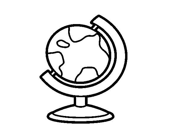 Dibujo de Globo terrqueo para Colorear  Dibujosnet
