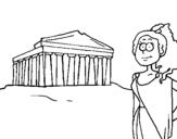 Dibujo de Grecia para colorear