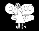 Dibujo de Hada mariposa para colorear