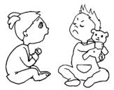 Dibujo de Hermanos