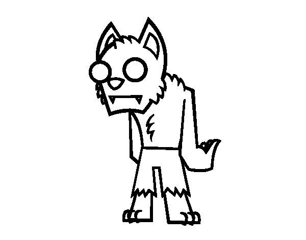 Dibujos De Zombies Para Imprimir Y Colorear: Dibujo De Hombre Lobo