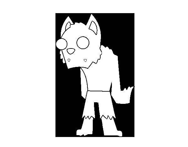 Dibujo de Hombre Lobo Zombie