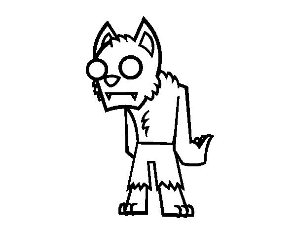 Dibujo de Hombre lobo  zombie para Colorear  Dibujosnet