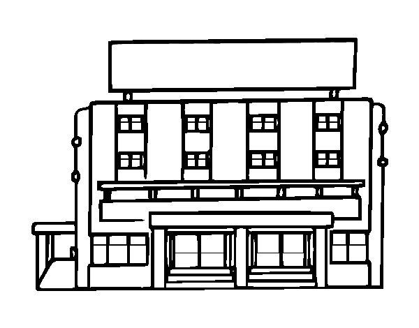 Dibujo de Hotel para Colorear