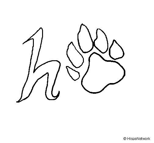 Dibujo de Huella para Colorear