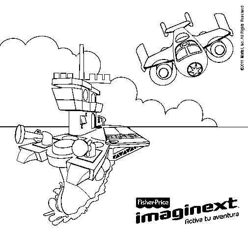 Dibujo de Imaginext 18 para Colorear