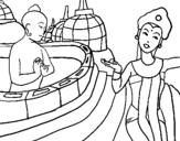 Dibujo de Indonesia 1 para colorear