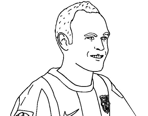 Dibujo de Iniesta para Colorear