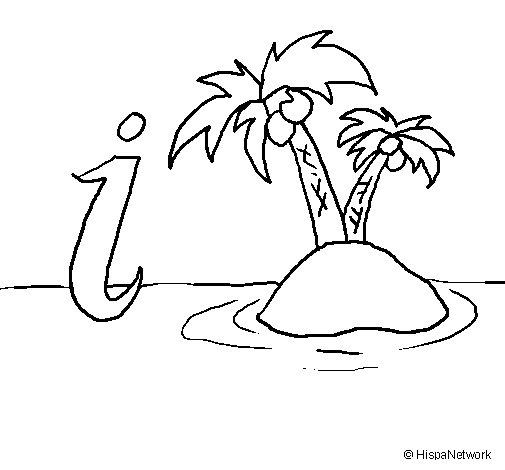 Dibujo de Isla para Colorear