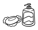 Dibujo de Jabones de baño para colorear