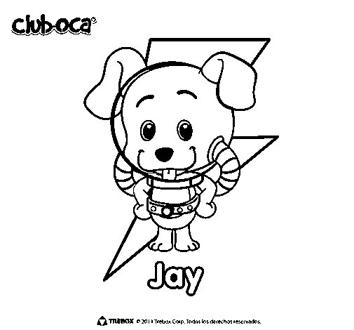 Dibujo de Jay para Colorear