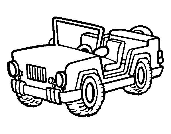 Dibujo de Jeep para Colorear