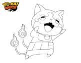 Dibujo de Jibanyan super feliz para colorear