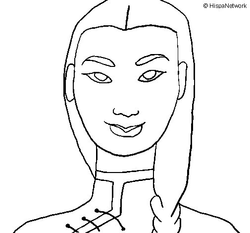 Dibujo de Joven china 1 para Colorear