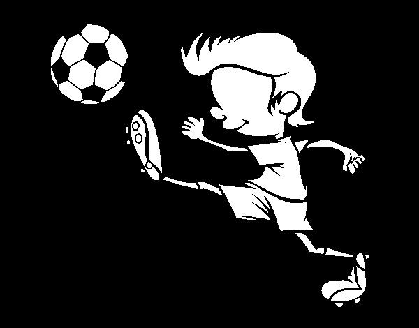 Los Mejores Dibujos De Fútbol Para Colorear E Imprimir: Dibujo De Jugador Chutando Para Colorear