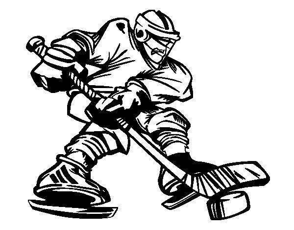 Dibujo de Jugador de hockey profesional para Colorear