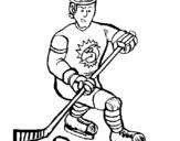 Dibujo de Jugador de hockey sobre hielo para colorear