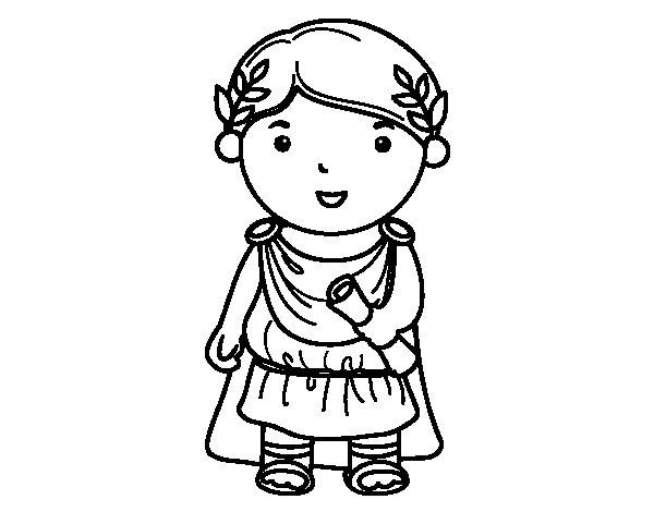 Dibujo de Julio César de niño para Colorear