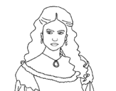 Dibujo de Katherine Pierce de Vampire Diaries para colorear