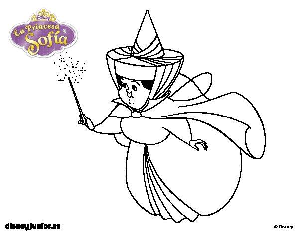 Dibujos De La Princesa Sofia Para Colorear: Hada Madrina Primavera Para