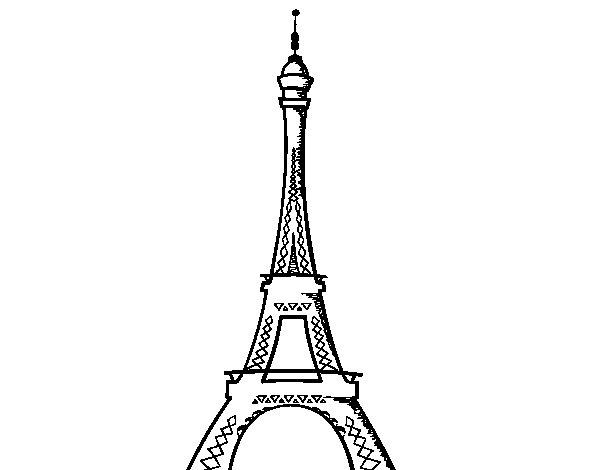 Dibujo de La torre Eiffel para Colorear - Dibujos.net