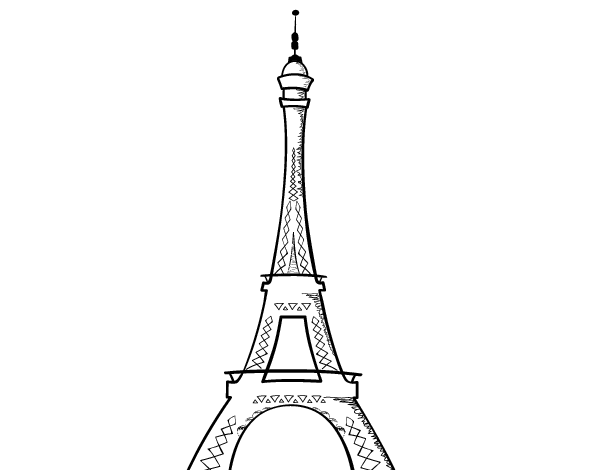 Torre Eiffel Dibujo Animado A Color: Divujos De La Tore Ifel