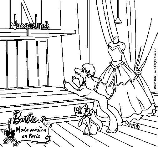 Dibujo de Las mascotas de Barbie para Colorear  Dibujosnet