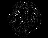Dibujo de León tribal