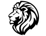 Dibujo de León tribal para colorear