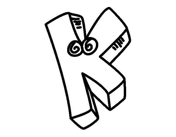 Dibujo de Letra K para Colorear
