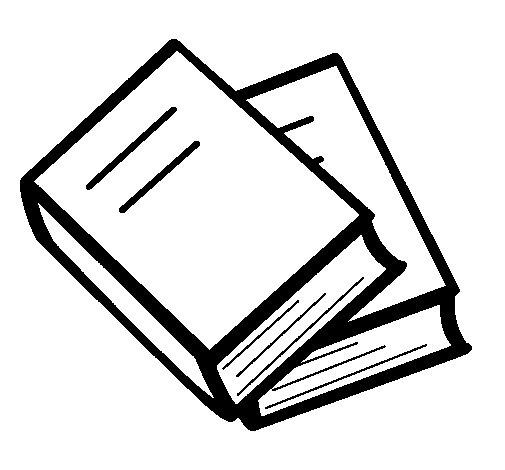 Dibujo de Libros para Colorear