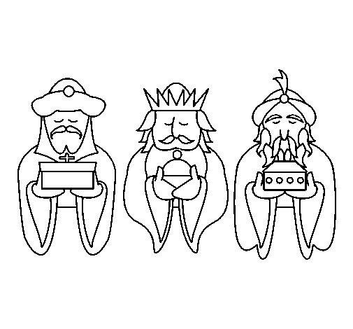 Dibujo de Los Reyes Magos 4 para Colorear