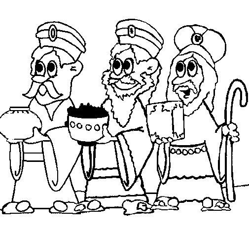 Dibujo de Los Reyes Magos para Colorear