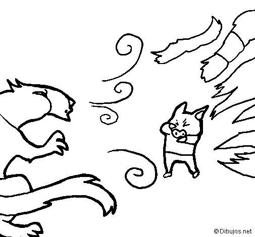 Dibujo de Los tres cerditos 7 para Colorear
