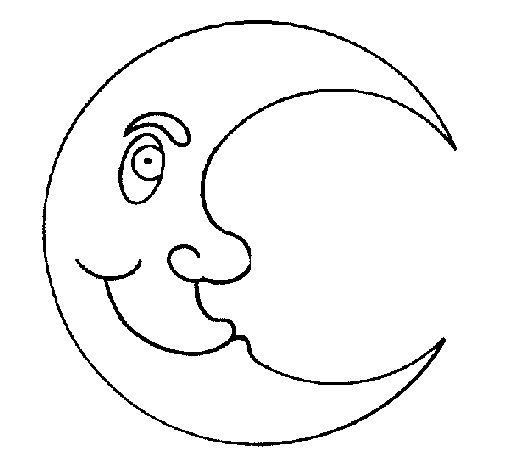 Dibujo de Luna para Colorear