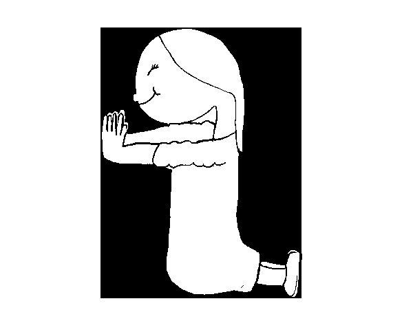 Dibujo de Madre Trinidad para Colorear