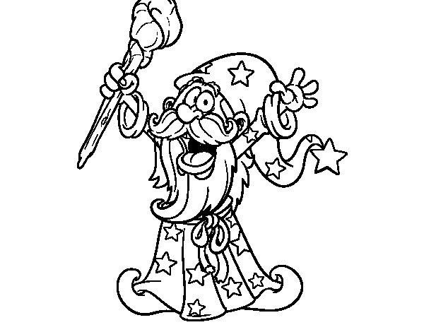Dibujo de Mago poderoso para Colorear