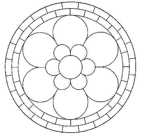 Dibujo de Mandala 2 para Colorear