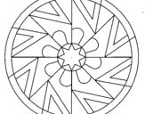 Dibujo de Mandala 25 para colorear